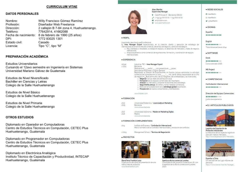 curriculum tradicional vs curriculum moderno