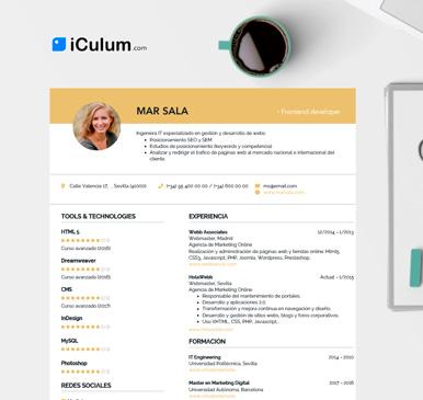cómo hacer un currículum iCulum