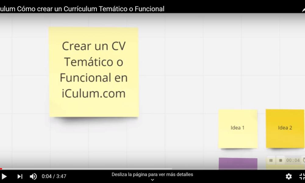 iCulum crear cv funcional o temático youtube