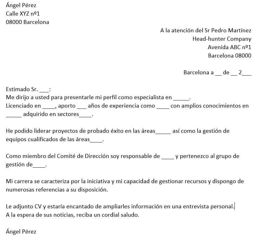 iCulum Carta de presentación Autocandidatura