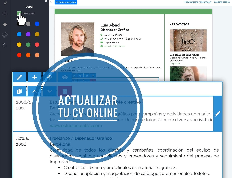Actualizar tu cv online iCulum
