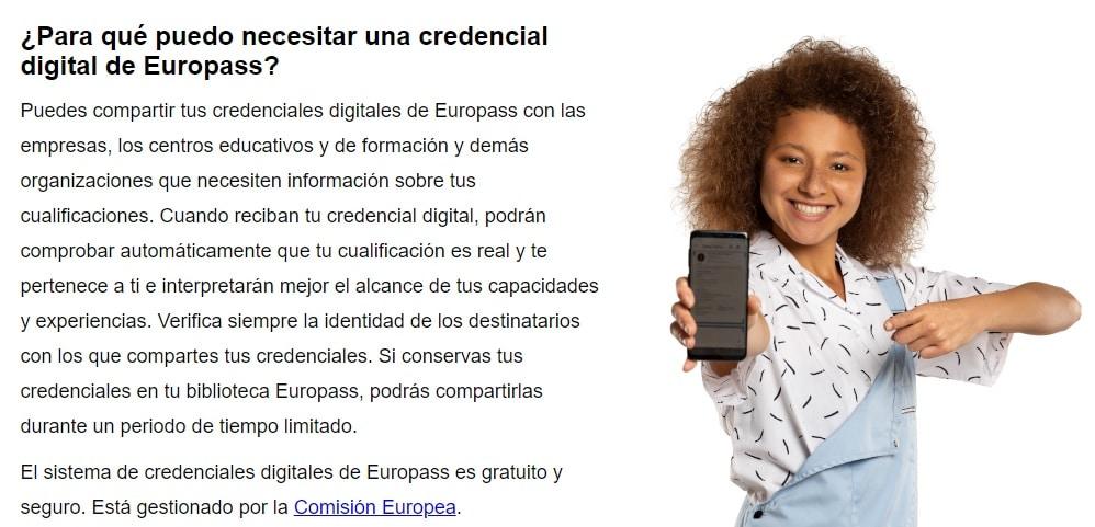 Currículum Europass Credenciales Profesionales