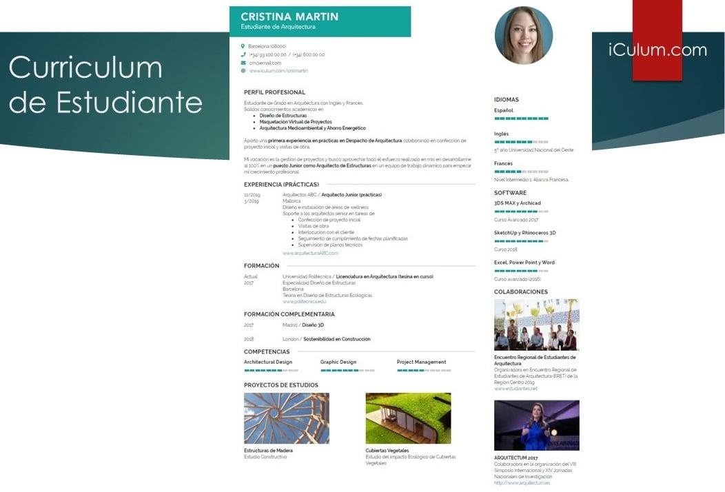 Currículum de Estudiante: Modelos y Ejemplos 1
