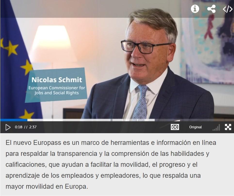 curriculum vitae europass 2020 video
