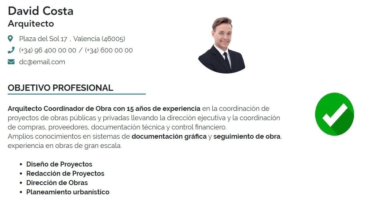Ejemplos De Objetivo Profesional En El Currículum Iculum Com