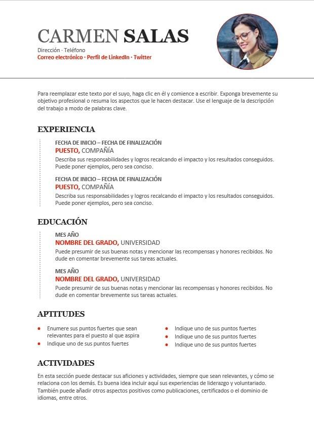 plantillas de currículum en word iCulum 12