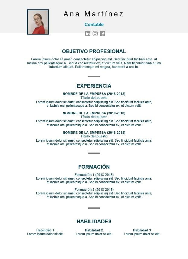 plantillas de currículum en word iCulum 14