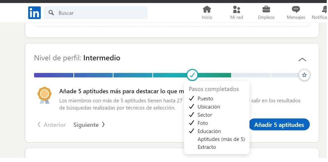 LinkedIn fuerza perfil